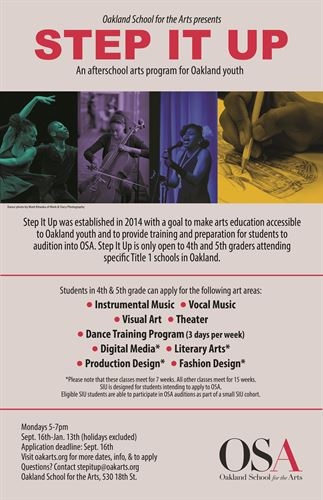 Oakland School For The Arts Step It Up Program